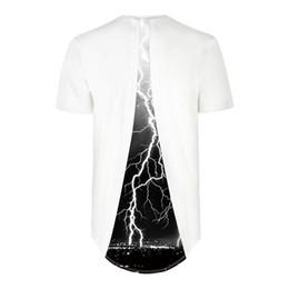 T Shirt Digital Printing Sport NZ - Explosions of lightning digital printing stitching sports base shirt T-shirt novelty casual tops Short Sleeve Creative printed Tees