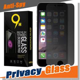 $enCountryForm.capitalKeyWord Australia - Privacy Tempered Glass Premium Screen Protector Guard For iPhone XS Max XR X 8 7 6 Plus Samsung Galaxy S9 S8 A6 J2 J3 J5 J7 J8 Pro Package