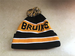 ice caps beanies 2019 - One Piece Top Quality Boston Team Logo Sport Ice Hockey Bruins Vintage Knitted Beanies Women's Winter Warm Skull Ha