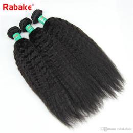 $enCountryForm.capitalKeyWord Australia - 3 4 Kinky Straight Human Hair Weave Bundles Raw Indian Virgin Coarse Yaki Kinky Straight Weave Human Hair Extensions Deals Free Shipping