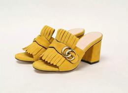 5ecd6ea514f0 New Fashion Hot-selling high-heeled slippers Women Casual Handmade Walking  Tennis Sandals Slippers Mules Slides Thongs