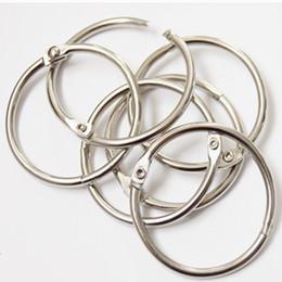 $enCountryForm.capitalKeyWord Australia - Wholesale lot for 1000 pcs Metal Loose Leaf Book Binder Hinged Rings Keychain Album Scrapbook Craft for Scrapbooking 8 size