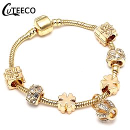 $enCountryForm.capitalKeyWord Australia - CUTEECO New Style Royal Crystal Crown Charm Bracelet Fit Gold Color Snake Chain Bracelets & Bangles for Women Jewelry