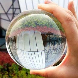 $enCountryForm.capitalKeyWord Australia - Clear Lens Ball Photography Prop Crystal Ball 80mm K9 Crystal Glass Decor Globe Meditation Healing Magic Feng shui Sphere