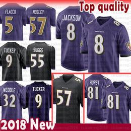 eab676f83 8 Lamar Jackson 81 Hayden Hurst Baltimore Ravens Jersey 5 Joe Flacco 9  Justin Tucker Perriman 32 Eric Weddle 55 Suggs 57 C.J. Mosley Flacco