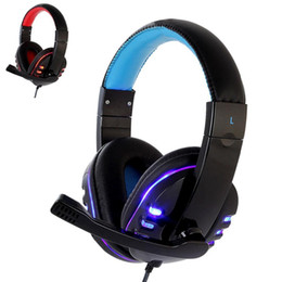 Chinese  CH1 stereo headphone headset casque Deep Bass Computer Gaming Headset PS4 with Mic LED Light for PC Game Gamer Earphone manufacturers