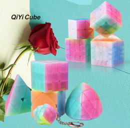 Discount kids educational game - 9styles Multi-Shape jelly Puzzle cube Twist Magic Cube Game Educational Decompression kids Gift Funny Toy party favor FF