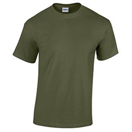 Screen Print Pricing Australia - Military Green Low Price Blank Men's T Shirt Plain Work Mens Factory Outlet Tee T Shirt Men Screen Printing Short Sleeve Fashion Custom Big