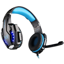 Tablet Jack UK - New 3.5mm Stereo Jack Gaming Headset Headphone with Mic LED Light for Xbox One S Xbox one PS4 Tablet Laptop Cell Phone with Package