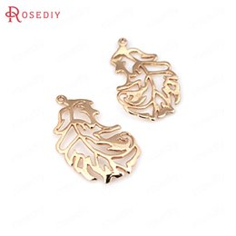 feather jewelry diy 2019 - 6PCS 13x23MM 24K Champagne Gold Color Plated Brass Phoenix Feather Charms Pendants High Quality Diy Jewelry Accessories