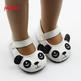 Shoes For American Girl Dolls Australia - Wholesale-1pair cartoon Panda Shoes For 1 3 18'' American Girl Doll 43cm Zapf Doll Shoes