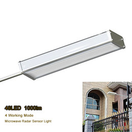 Microwave radar sensor online shopping - Super Bright Solar Street Light Microwave Radar Motion Sensor LEDs lumes Modes Outdoor Wall Path Lamp Security Spot Lighting