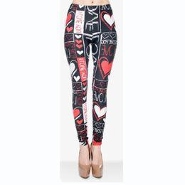 $enCountryForm.capitalKeyWord UK - DHL FREE!! 10pcs lot Scrawl Color Leggings Women Multi-color Printing Legging Stretchy Trousers Casual Slim Capri Leggings Yoga pants