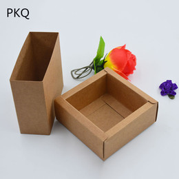 $enCountryForm.capitalKeyWord NZ - 50pcs Small gift box for jewelry Kraft paper Packaging Boxes Drawer paper box for soap DIY Craft Cardboard Packing carton