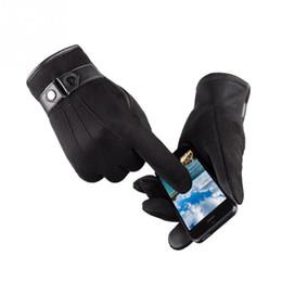 $enCountryForm.capitalKeyWord NZ - Mens Winter Warm Gloves Male Full Finger Smartphone Faux Suede Gloves Mittens