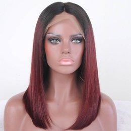 $enCountryForm.capitalKeyWord NZ - Attraction pretty 100% unprocessed raw virgin remy human hair long 1bT99J ombre color silky straight full lace cap wig for girl