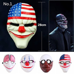 $enCountryForm.capitalKeyWord NZ - Topic Game Series Face Mask Halloween Xmas PVC Scary Clown Mask Payday Party Mascara Carnaval Old Man Clown Flag Red Head Masquerade Cosplay