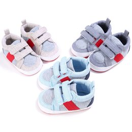 Wholesale Canvas High Shoes NZ - High Quality Baby Boys Girls Newborn Solid Canvas Shoes Toddler Kids New Fashion Anti-Slip Patch Hot Sale Shoes First Walkers