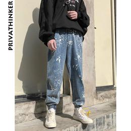 $enCountryForm.capitalKeyWord NZ - Distressed Denim Pants Men 2018 Mens Streetwear Paint Blue Jean Pants Male Casual Korean Hiphop Fashion Harem