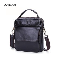 LOVMAXI 100% Real Cow Leather Men s Shoulder Bags Male Business Messenger  Bags Coffee Small Handbags Small Work For Man 274ff0810fd9a