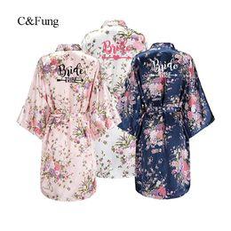C Fung design floral Kimono Robe BRIDE TRIBE ARROW love Bridesmaid Wedding  Bachelorette Party Robe Kimono Sleepwear cd5b0a6eb