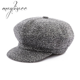 men fashionable cap 2019 - Maylisacc 2018 Female Male Solid Colors Autumn Winter Warm Beret Cap Wholesale for Women Fashionable Christmas Gift 4 Co