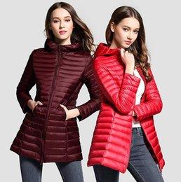 $enCountryForm.capitalKeyWord Canada - New Women Down Jacket Female Vintage A line Overcoat Ultralight Winter Down Coat Women Long Warm Parka
