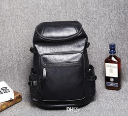 bucket backpack sales Canada - factory sales brand men bags wind hot style fashion leather college students in Europe and the leisure mens backpack bags travel bag