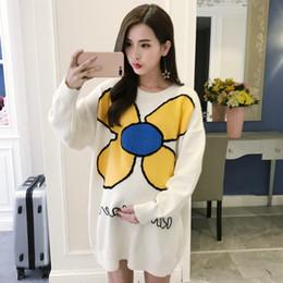 326874f44 Sun Flower suelta suéteres de maternidad de gran tamaño de manga larga  jerseys ropa para mujeres