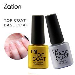 Best uv top coat online shopping - Zation Soak Off Manicure Nail Gel Polish Quality Gel Lacquer Best Top Coat Transparent Color Need UV Led Lamp Vernis Varnish