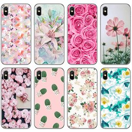 $enCountryForm.capitalKeyWord Australia - Ins Hot Flower Cellphone Cases for iPhone X 9 Soft Floral Mobile Phone Case Universal Painted Mobile Phone Shell for Samsung