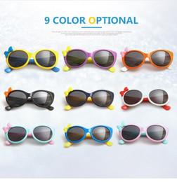 Kids' Sunblock Polarized Goggles Sunglasses with Bow Eyewear Glasses UV400 Strong Frame Sunblock Glasses for Boys Girls from kids polaroid glasses manufacturers