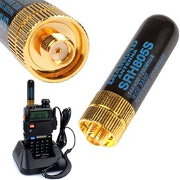2 pcs Mini antenne pour walkie talkie radios baofeng uv UV82 5r 5ra 888s Walkie Talkie Accessoires SRH805S SMA-F Antenne Féminine