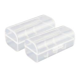 Plastic Storage Organizers Canada - 2pcs 26650 Battery Organizer Batteries Holder Hard Plastic Storage Battery Box Case