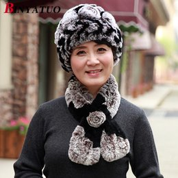 26f2c3c6 Old lady rabbit hair hat, mother's hat, autumn winter, women weave old  man's hat scarf, thick middle-aged warm hat.