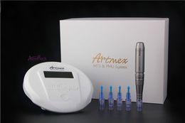 Make Permanent Tattoo Pen Australia - Artmex V6 model Tattoo Permanent Makeup Pen Machine Eyebrow Make up&Lip Rotary Tattoo Machine Strong Motor Pen Gun