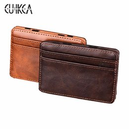 Chinese  High quality men magic wallets Korea fashion mini men wallets small portable PU leather purse male card holder XF005 manufacturers