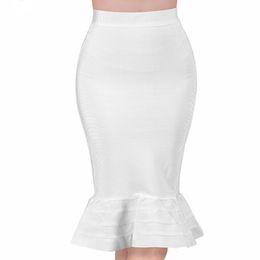 $enCountryForm.capitalKeyWord UK - New sexy women Evening Party white summer Skirt yellow black ruffles celebrity knee-length Mermaid Bodycon bandage skirts