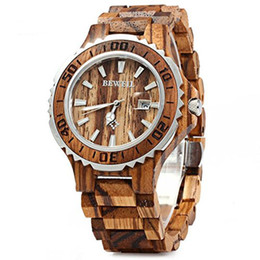 China Bewell New Men's Analogue Quartz Wooden Watch with Wood Bracelet W100BG 1pcs  free shipping (Multi Colors) suppliers