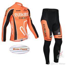maillot bib 2019 - QUICK STEP EUROPCRA EUSKALTEL team Cycling Winter Thermal Fleece jersey (bib) pants sets Quick Dry long maillot bike kit