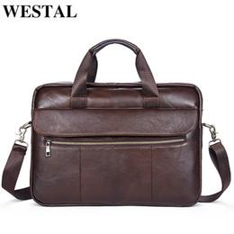 $enCountryForm.capitalKeyWord NZ - WESTAL Genuine Leather Men Bag Men Messenger Bags Shoulder Crossbody Bags Men's Briefcase Handbags Leather Laptop Bag Male 1117