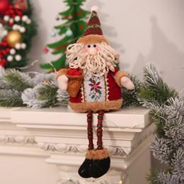 $enCountryForm.capitalKeyWord NZ - Hot Bead Long Leg Sitting Christmas Tree Doll Xmas Hang Show Window Holiday Gift Small Santa Snowman Reindeer Toy