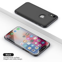 Vertical Iphone NZ - 100pcs Luxury Mirror Clear View Case for iPhone Xs Max Xr Phone Cover Plating Base Vertical Stand