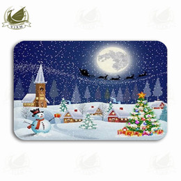 $enCountryForm.capitalKeyWord NZ - Vixm Silhouette Of Moon And Santa Claus Flying On Sled Welcome Door Mat Rugs Flannel Anti-slip Entrance Indoor Kitchen Bath Carpet