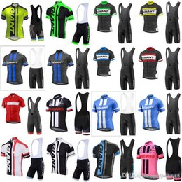Giant bike jersey bib shorts online shopping - 2018 GIANT team Cycling jersey bike Bib shorts set breathable Ropa Ciclismo MTB bicycle men Summer Quick Dry Bicycle Sportswear