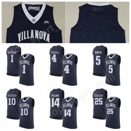 College Villanova Wildcats Basketball Jerseys 1 Jalen Brunson 25 Mikal  Bridges 10 Donte DiVincenzo 5 Phil Booth 14 Omari Spellman 4 Paschall d4e466e33
