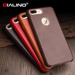 37ad26978dd Funda ultra delgada de alta calidad para iphone 7 más diseño de piel de  becerro cubierta de teléfono para iphone 7 cubierta trasera de cuero