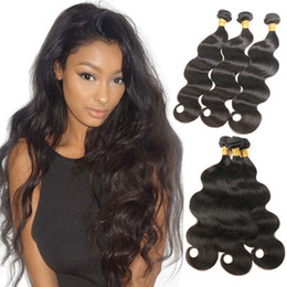 24 inch wet wavy human hair 2019 - 3 Bundles Peruvian Human Hair Body Wave Wet and Wavy Hair Extensions Unprocessed Virgin Hair Bundles Natural Black Color