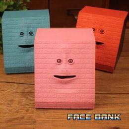 Box eat online shopping - 6 Styles Face Bank Cartoon Face Piggy Bank Eat Money Save Pot Saving Coin Box Children Creative Christmas Gift Novelty Items CCA10762