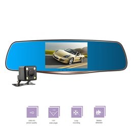 Rearview Screen NZ - Large Screen mirror Car Dvr HD1080P Double Lens Night Vision Recorder Wide Angle Parking Monitor